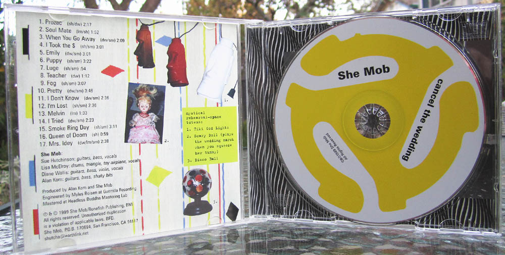 She Mob - Cancel the Wedding CD insides